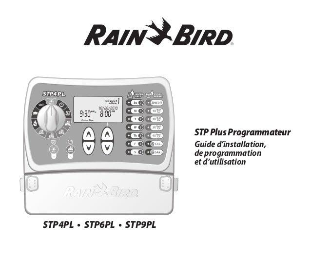 STPPlusProgrammateur Guide d'installation, de programmation et d'utilisation STP4PL • STP6PL • STP9PL