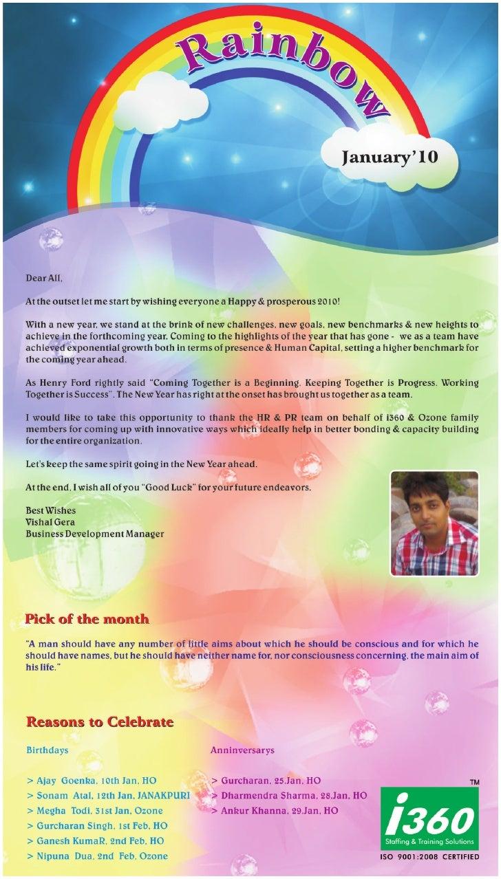 I360 Franchise Newsletter - January 2010