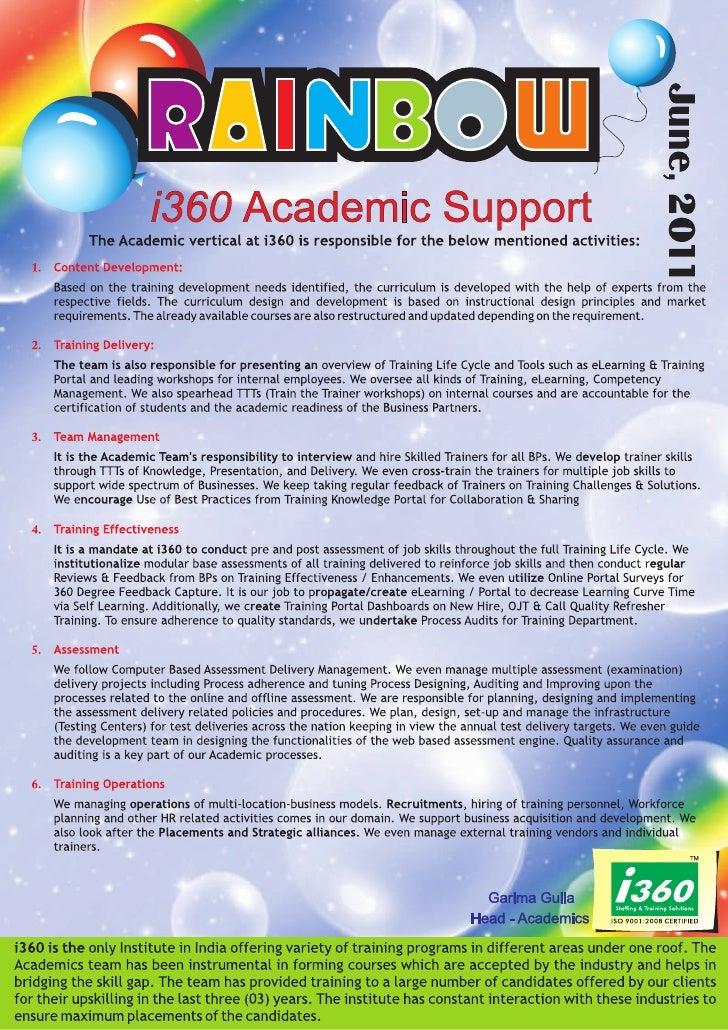 I360 Franchise Newsletter June 2011