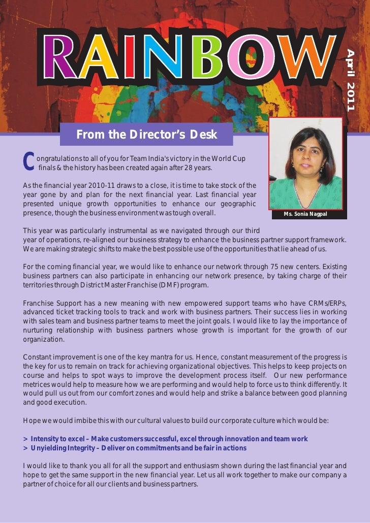 I360 Franchise Newsletter April 2011