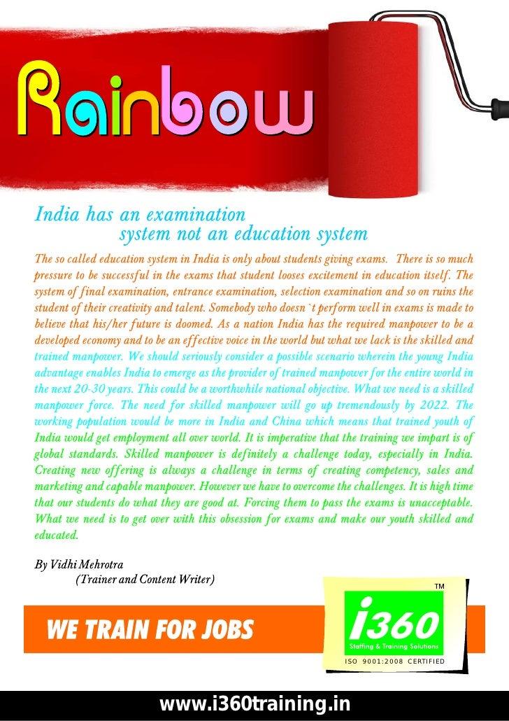 ISO 9001:2008 CERTIFIEDwww.i360training.in