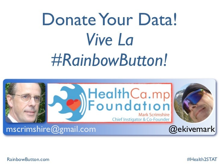 Rainbow button at health2stat