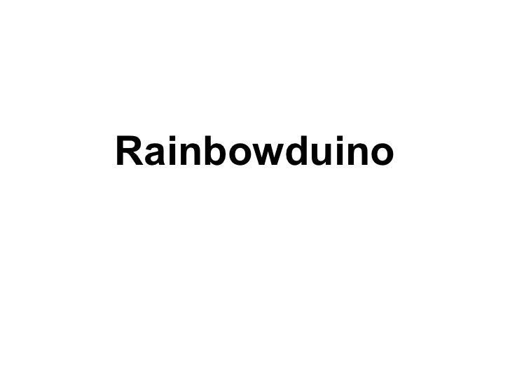 Rainbowduino