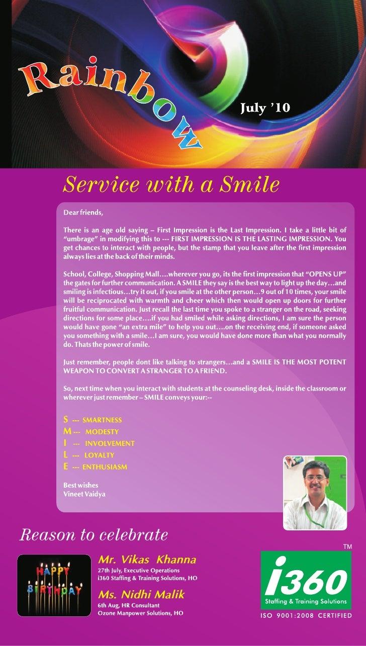 I360 Franchise Newsletter - July 2010