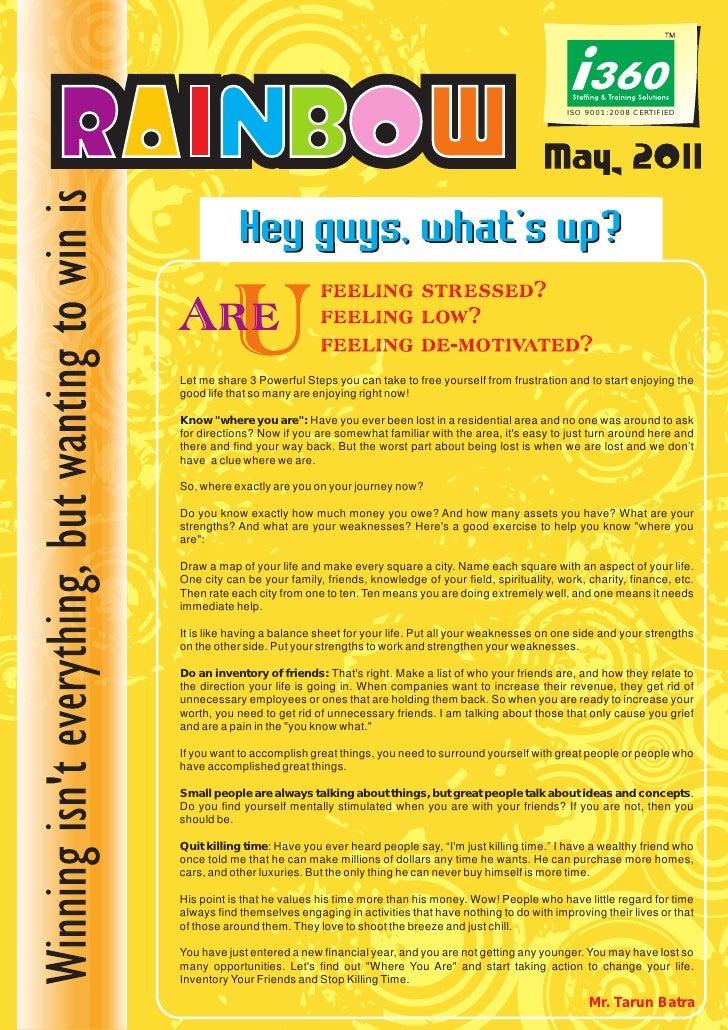I360 Franchise Newsletter - May 2011