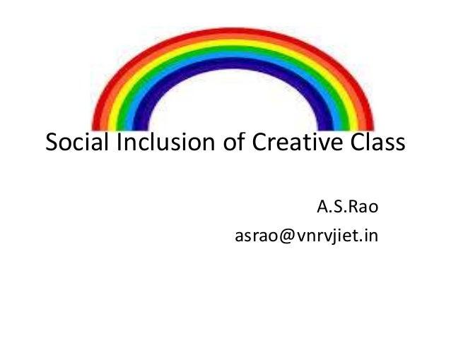 socialinclusion of Creative Class