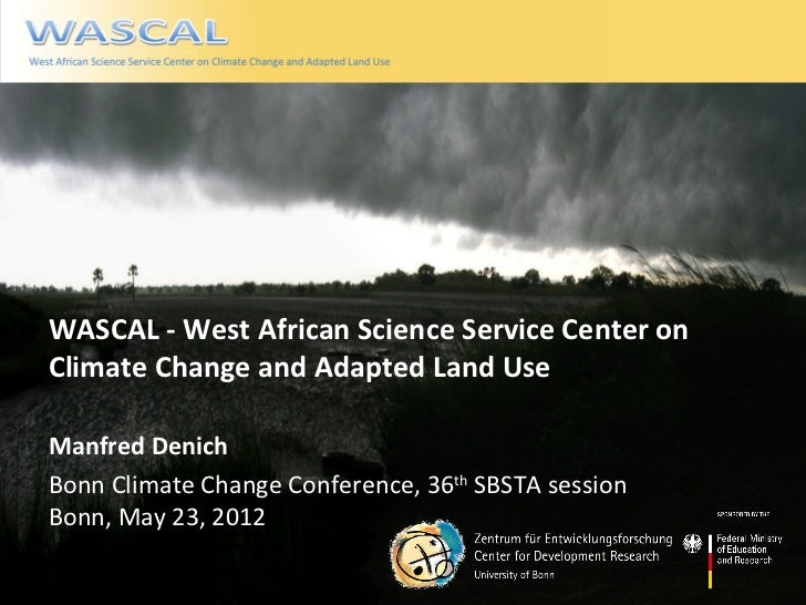 West African Science Service Center on Climate Change and Adapted Land UseWASCAL - West African Science Service Center onC...