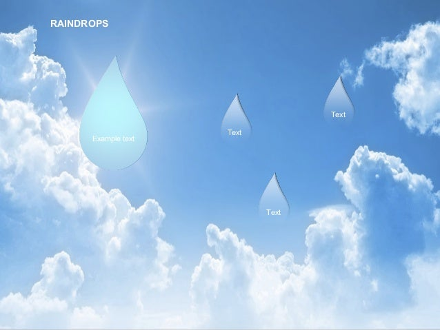 Raindrops Diagram for PowerPoint