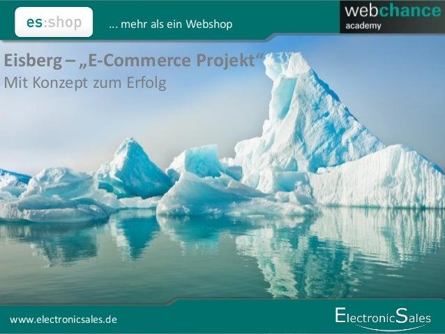 """www.electronicsales.de ... mehr als ein Webshop 1www.electronicsales.de Eisberg – """"E-Commerce Projekt"""" Mit Konzept zum Erf..."""