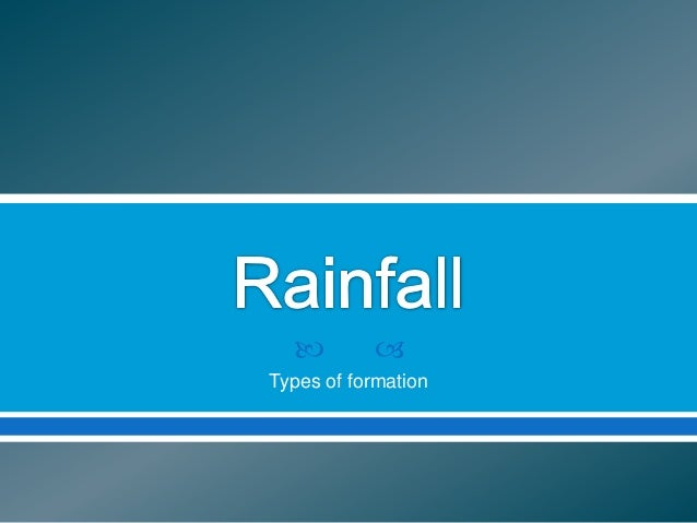 Types of Rainfall
