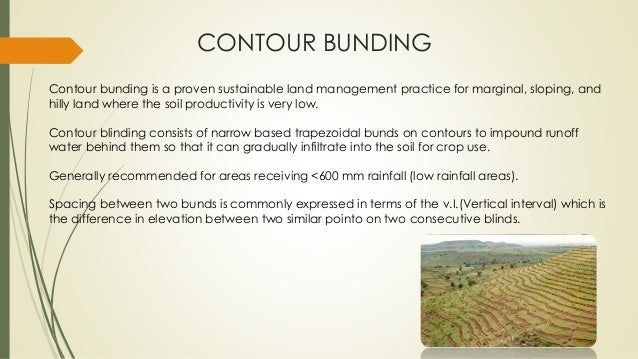 Soil and water conservation for Terracing definition in agriculture
