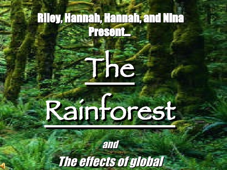 Riley, Hannah, Hannah, and Nina Present… The Rainforest and The effects of global warming.