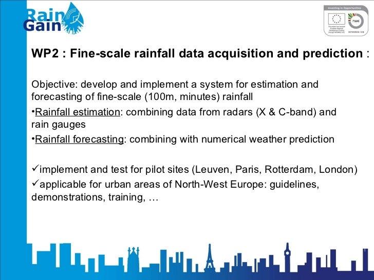 RainGain program - Work Package 2 - by Patrick Willems - KU Leuven