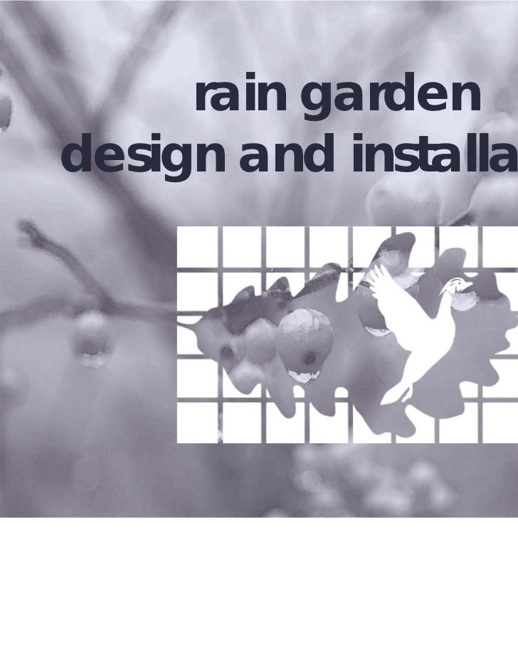 Rain Garden Design and Installation Manual - EcoServ