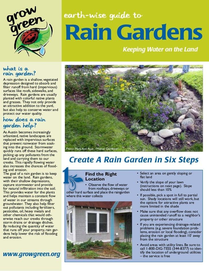 earth-wise guide to                                         Rain Gardens                                                  ...