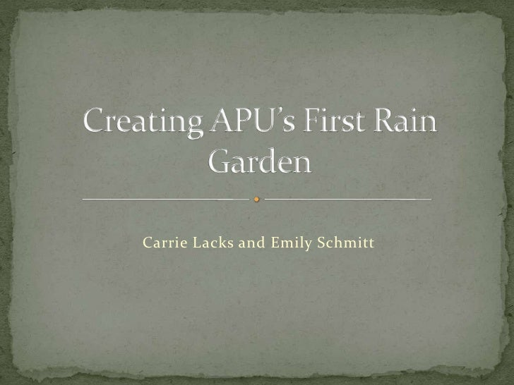 Rain garden ppt