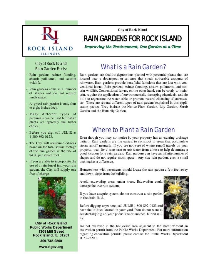 Rain Gardens for Rock Island