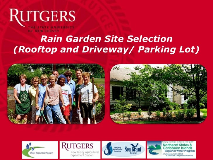 Rain Garden Site Selection(Rooftop and Driveway/ Parking Lot)