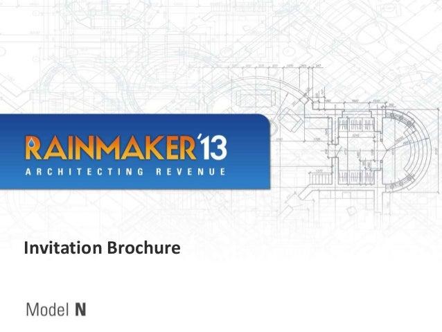 Rainmaker'13 brochure