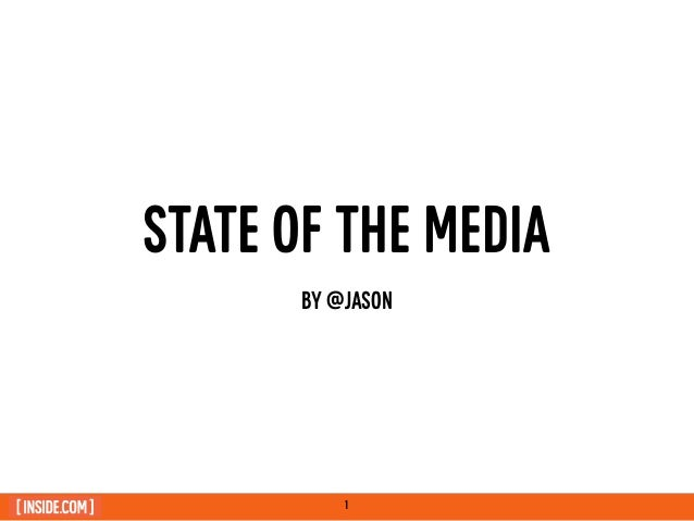 "Jason Calacanis: RAIN Summit West keynote: ""State of Media 2014"""