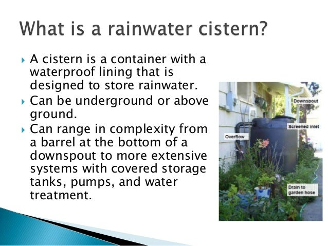 Rainwater Catchment | Transplanting Traditions