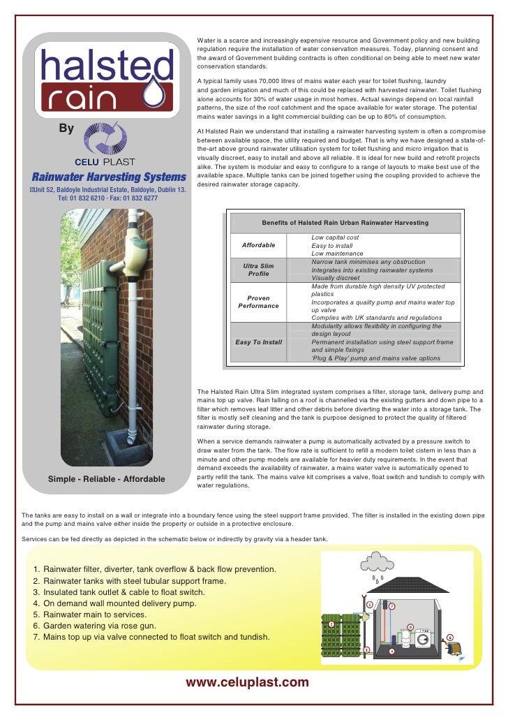 Ireland;  Rainwater Harvesting System