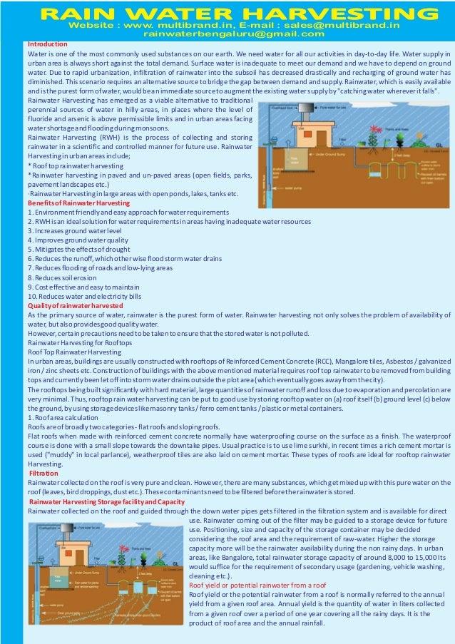Rain Water Harvesting - Multibrand, India