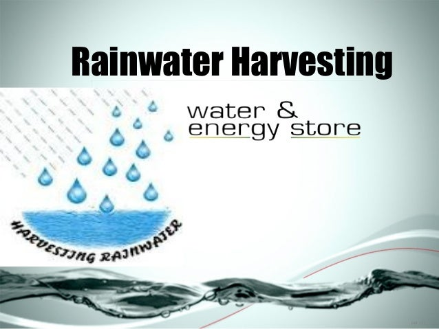 GI-366: Harvesting, Storing, and Treating Rainwater for