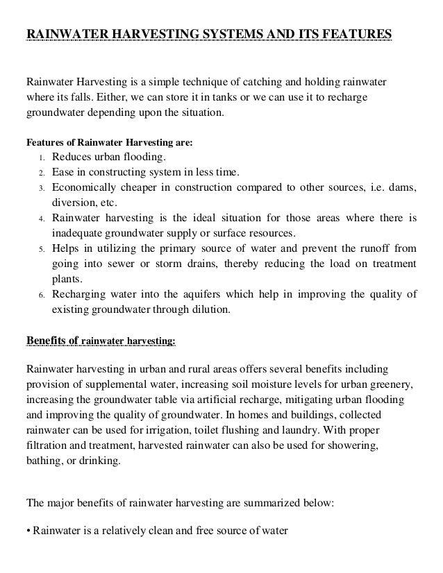 Rainwater harvesting essay in tamil pdf