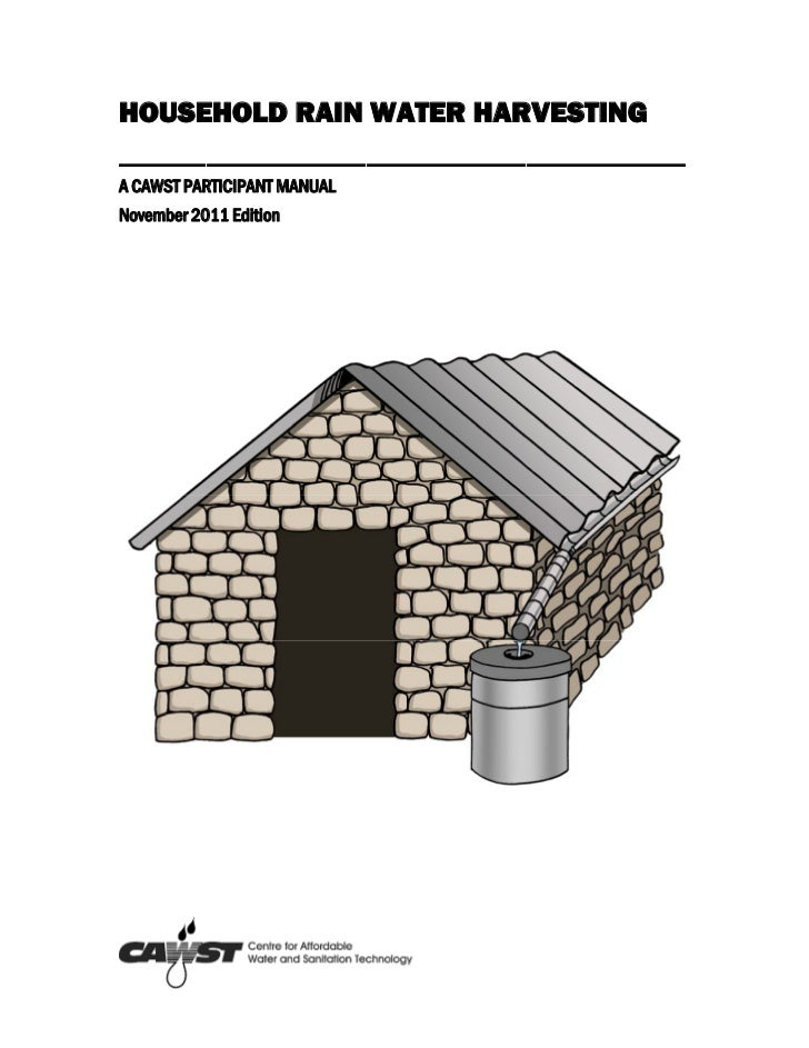 Rainwater harvesting participant with appendices 2011-11