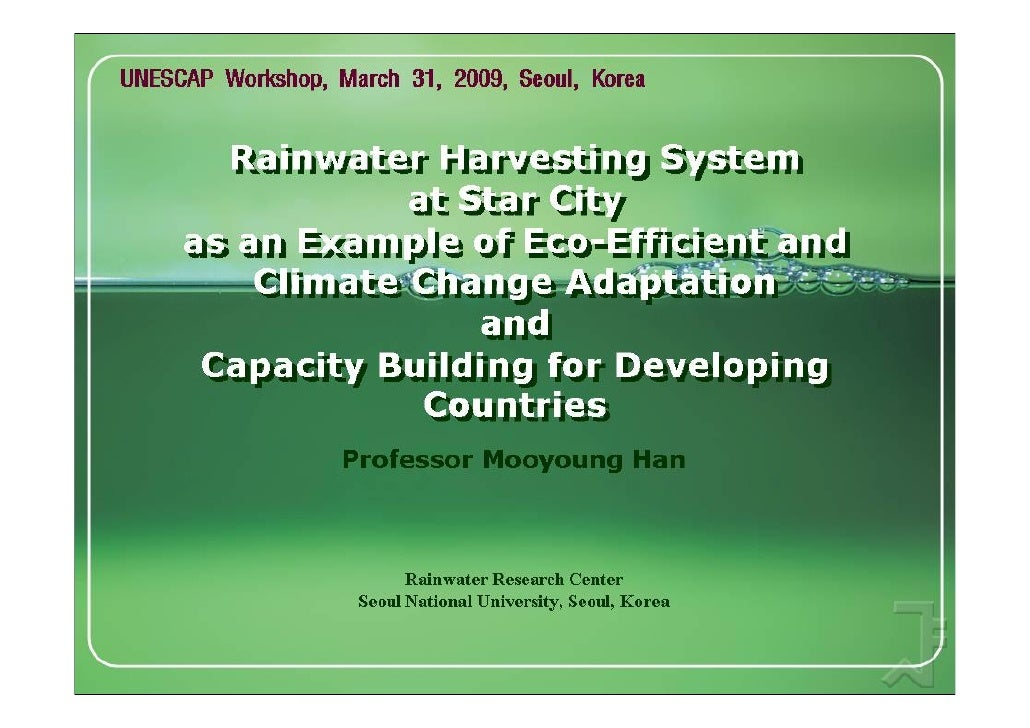 Rainwater Harvesting System at Star City