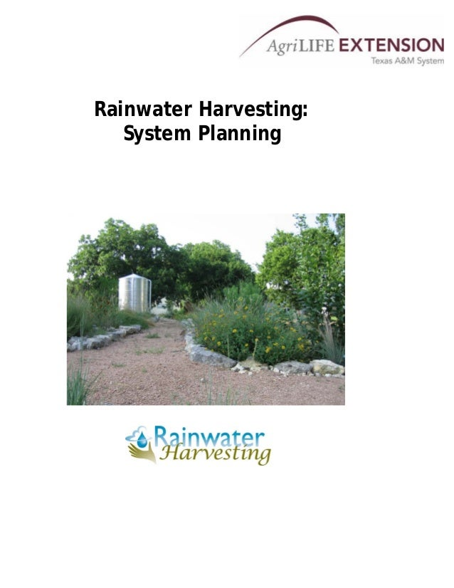 Rainwater Harvesting: System Planning