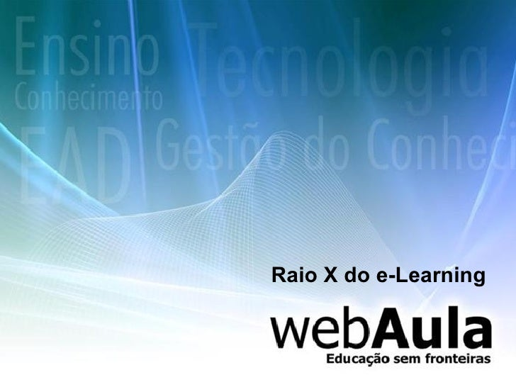 Raio X do e-Learning