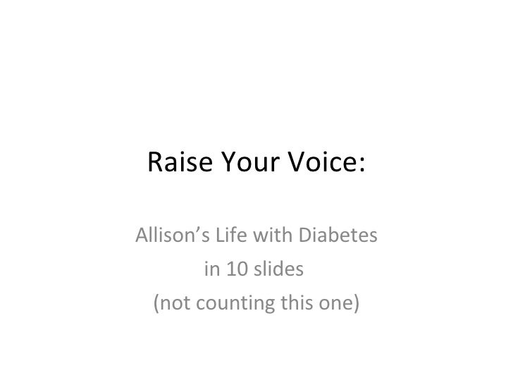 Raise Your Voice: Allison\'s Life with Type 1 Diabetes