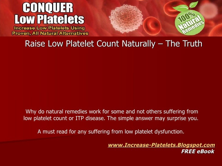 raise low platelet count naturally the