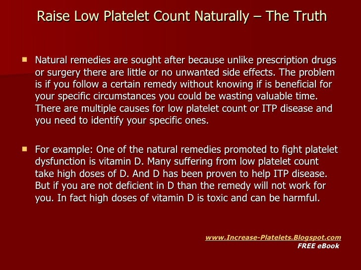 Natural Remedies For High Platelet Count