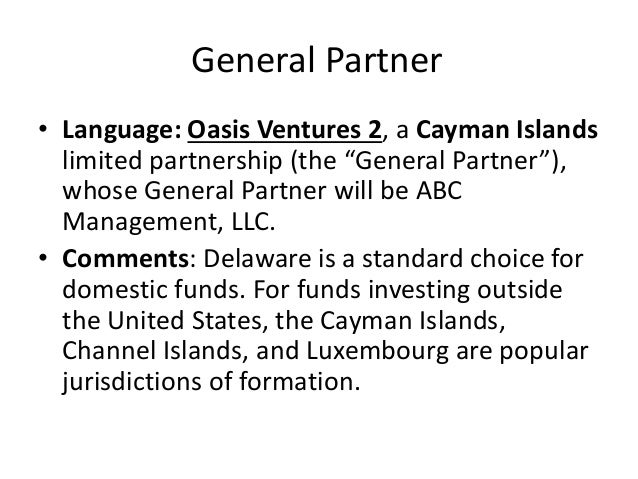 Cayman Islands Limited Partnership Formation