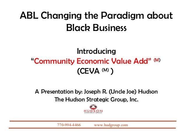 Raising level of black economics changing the paradigm