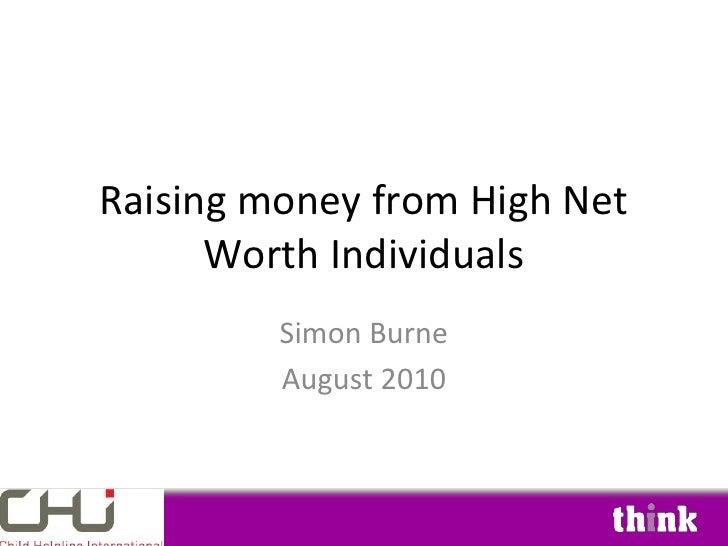 Raising Money From High Net Worth Individuals