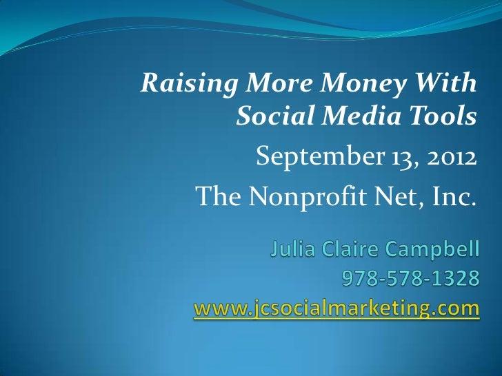 Raising More Money Using Social Media Tools