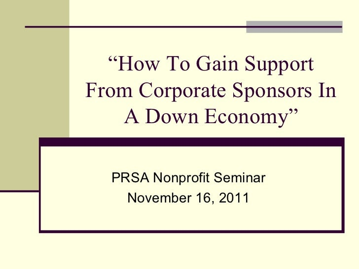 7 Steps to Successfully Raise Sponsorship $'s for Your Nonprofit