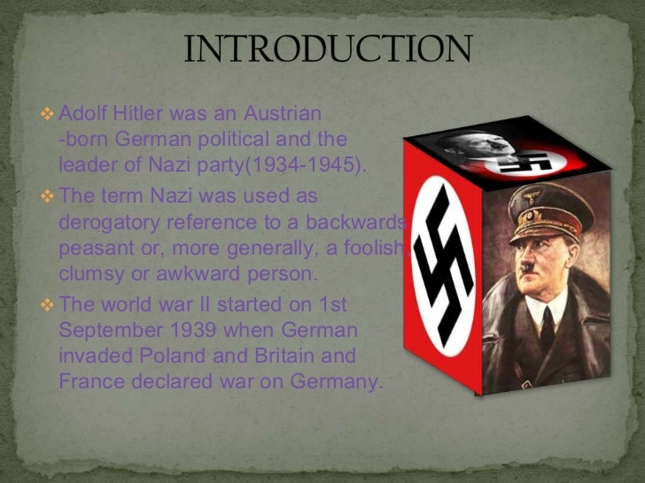 hitler essay outline A thematic essay outline is supposed to lead a writer flawlessly through the entire writing process and prevent from being stuck the essay structure is common: 5-paragraph essay  mein kampf and the development of hitler's personality the dominant political authority of german.