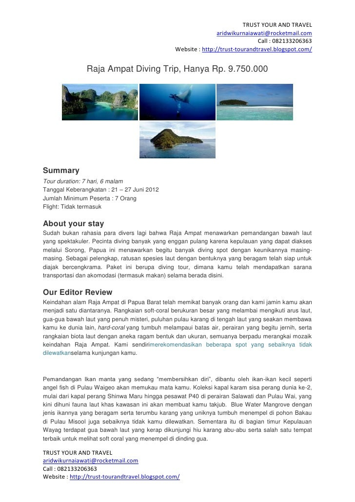 Raja ampat diving trip