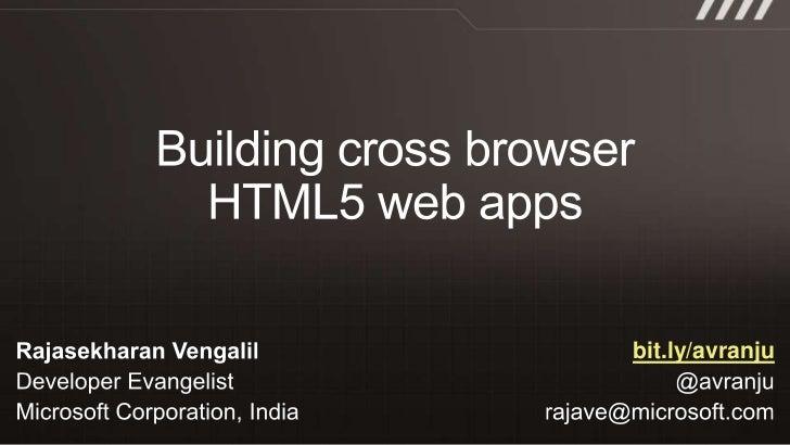 Rajashekaran vengalil building cross browser html5 websites