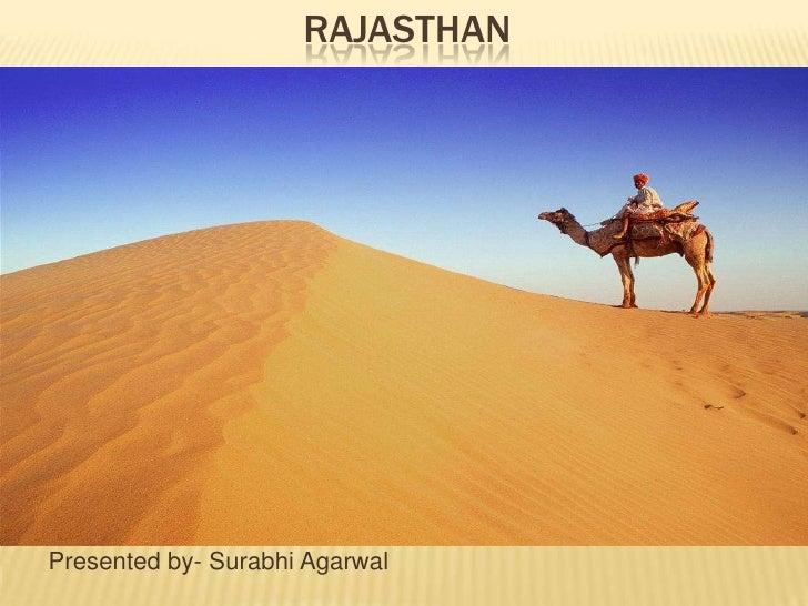Rajasthan : a state presentation