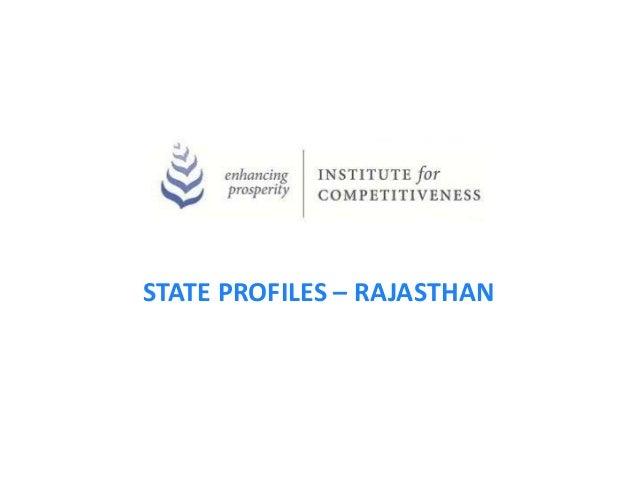STATE PROFILES – RAJASTHAN