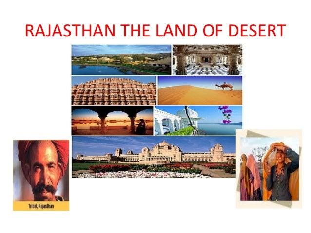 Rajasthan the land of desert