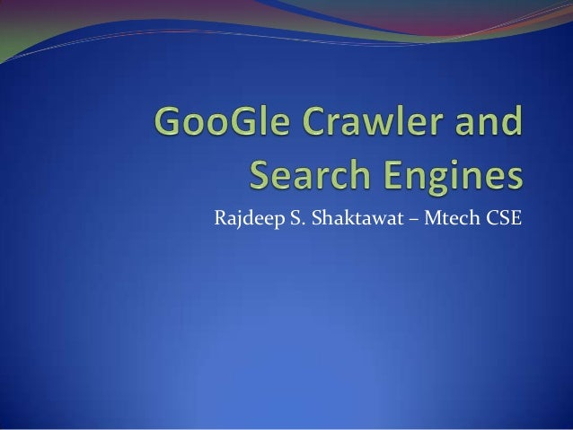 Google Crawler and Search Engines
