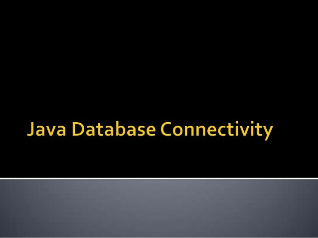  JDBC – provides an interface to Relational Data Sources.  JDBC library provides the means for executing SQL statements ...