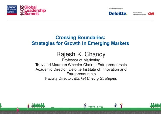 Crossing Boundaries: Strategies for Growth for Emerging Markets
